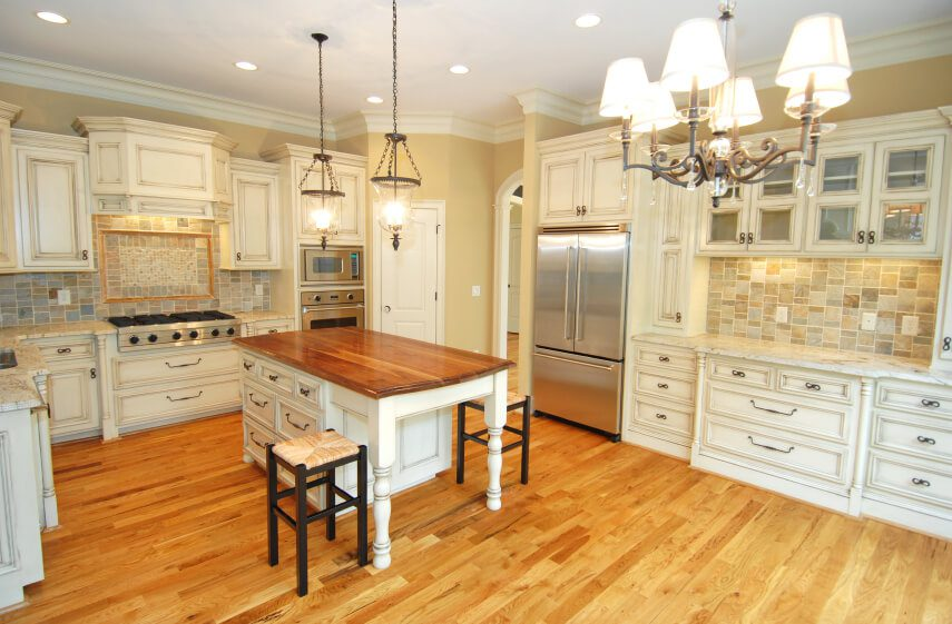 Kitchen cabinet crown molding styles scott hall remodeling for White kitchen cabinets with crown molding