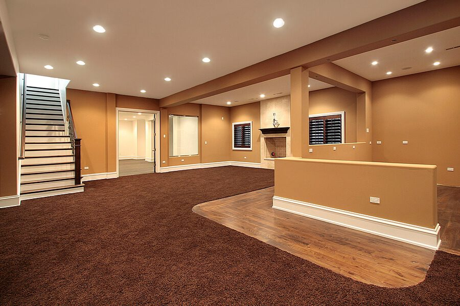 Top reasons to remove basement carpeting scott hall for Basement flooring ideas pictures